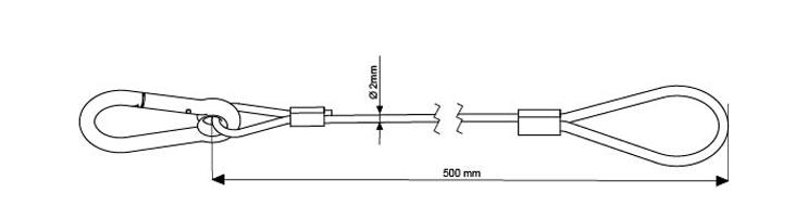 SWL 5Kg - 500mm