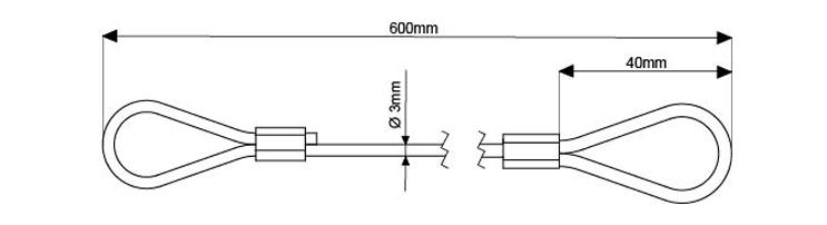 SWL 100Kg - 600mm