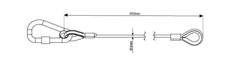 Modular Rigging Safety Bond with Moving Light Hook