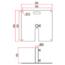 Two Wheel Tank Trap (48mm) - Image: 3