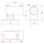 Railing Side Support Vertical Base - Image: 2