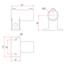 Railing Side Support Horizontal Base - Image: 2