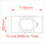 Side Outlet Tee (Slimline) - Image: 3
