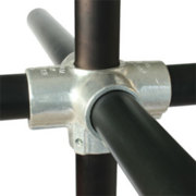 Four Way Cross With Centre Through Tube